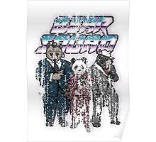 Vintage Grunge Bear Squad Poster