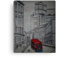 london street illustration Canvas Print