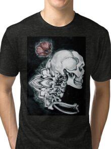 Coquelicot Skull Tri-blend T-Shirt