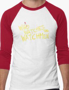 Who Watches? Men's Baseball ¾ T-Shirt