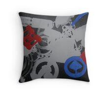 manipulated photograms Throw Pillow