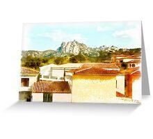 Arzachena: landscape Greeting Card