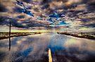 Holy Island Causeway by Nigel Bangert