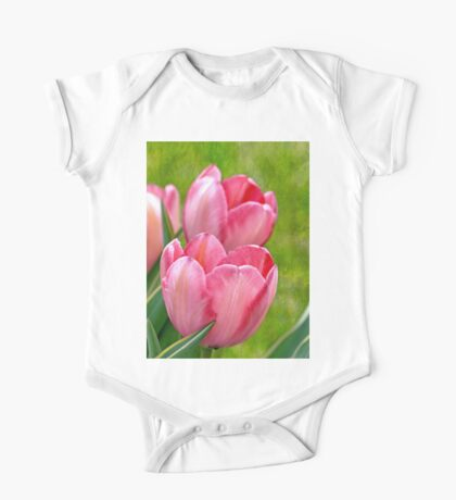 Pink Tulips One Piece - Short Sleeve