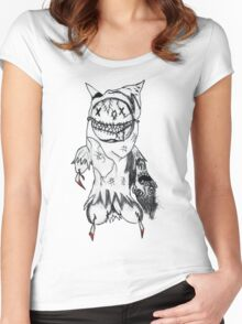 Masked Women's Fitted Scoop T-Shirt