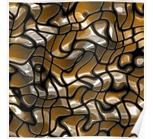 Abstract texture gold color Poster