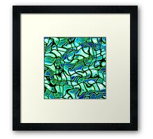 Abstract texture green color Framed Print