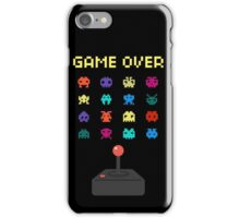 Game Over 8bit Video Game Space invaders Vintage Graphic T-shirt iPhone Case/Skin