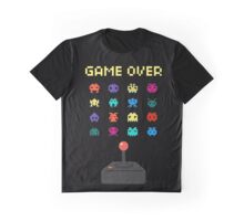 Game Over 8bit Video Game Space invaders Vintage Graphic T-shirt Graphic T-Shirt