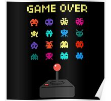Game Over 8bit Video Game Space invaders Vintage Graphic T-shirt Poster
