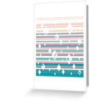 Ombre Diamond Stripes Pattern Greeting Card