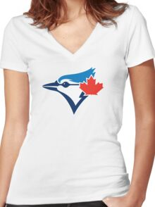 Toronto Blue Jays logo 2016 Women's Fitted V-Neck T-Shirt
