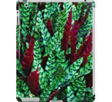 Green & Red Leaves iPad Case/Skin