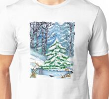 Winter Spruce Tree Unisex T-Shirt