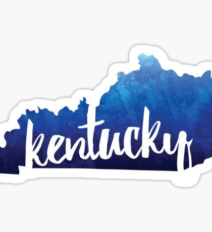 Kentucky - Watercolor Outline Sticker