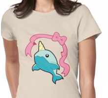 Kawaii Narwhal Womens Fitted T-Shirt