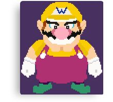 Wario - Pixel Art Canvas Print