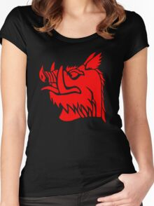 Black knight boar Women's Fitted Scoop T-Shirt
