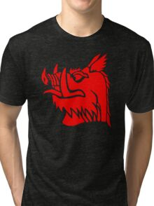 Black knight boar Tri-blend T-Shirt