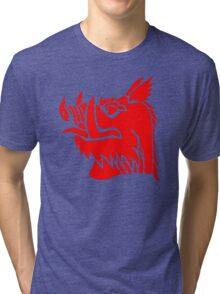 Black knight boar Tri-blend T-Shirt