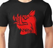 Black knight boar Unisex T-Shirt