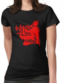 Black knight boar Womens Fitted T-Shirt