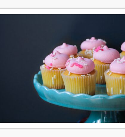 Cupcakes with pink frosting Sticker