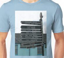 Signpost in Gaelic, Stornoway, Isle of Lewis, Scotland Unisex T-Shirt