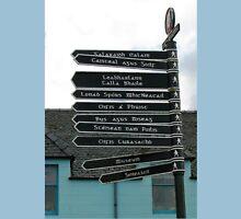 Signpost in Gaelic, Stornoway, Isle of Lewis, Scotland T-Shirt