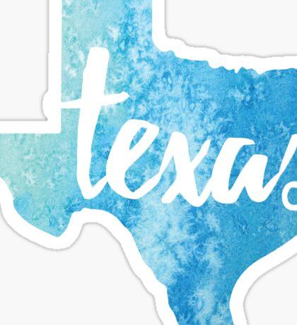 Texas - light blue watercolor Sticker