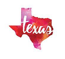 Texas - watercolor Photographic Print