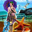Lili at the Beach by Karin  Hildebrand Lau