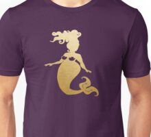 Mermaid Curves in Gold Unisex T-Shirt