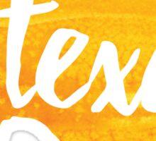 Texas - yellow watercolor Sticker
