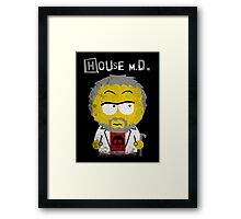 House MD in the style of South Park Framed Print
