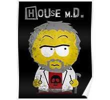 House MD in the style of South Park Poster