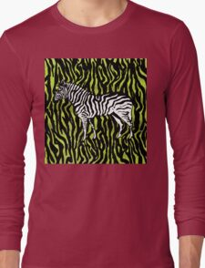 Zebra - animal colour pop art Long Sleeve T-Shirt