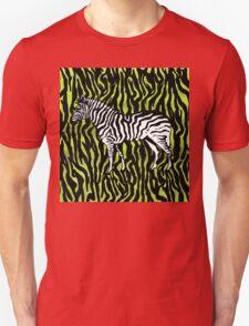 Zebra - animal colour pop art Unisex T-Shirt