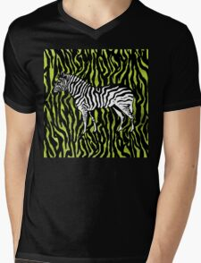 Zebra - animal colour pop art Mens V-Neck T-Shirt