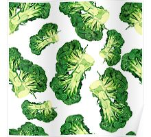 - Broccoli pattern (white) - Poster
