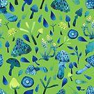- Mushroom pattern (green) - by Losenko  Mila