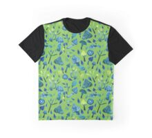 - Mushroom pattern (green) - Graphic T-Shirt