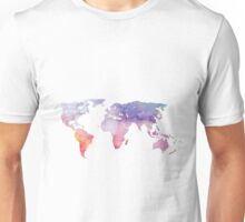Watercolor World Map Unisex T-Shirt