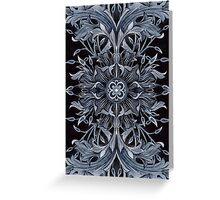 - Black pattern - Greeting Card