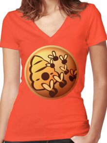 Insect Swarm Women's Fitted V-Neck T-Shirt