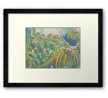 Cactus Patch (Pastel) Framed Print