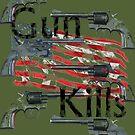 Gun kills America by telberry