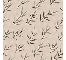 - Humble plant pattern (brown) - Photographic Print