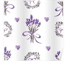- Simple lavender pattern - Poster