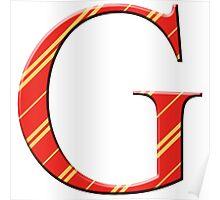 G for Gryffindor Poster